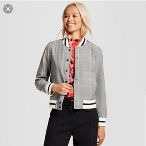 Who what wear plaid bomber jacket suit